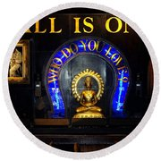 All Is One Round Beach Towel