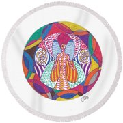 All Knowledge Is Within You Round Beach Towel