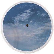 Hot Air Balloons Findlay Ohio Round Beach Towel