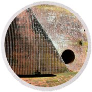All Mixed Up Round Beach Towel