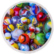 All My Marbles Round Beach Towel