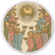 All Saints Round Beach Towel