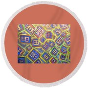 All Six's And Three's Round Beach Towel