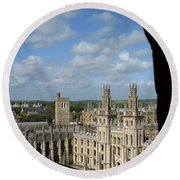 All Souls College And Beyond Round Beach Towel