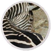 All Stripes Zebra 2 Round Beach Towel