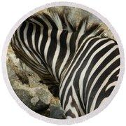 All Stripes Zebra 3 Round Beach Towel