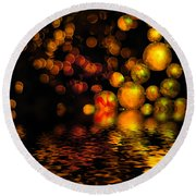 All That Glitters Is Gold Round Beach Towel