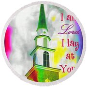 All That I Am Round Beach Towel