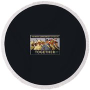 All The Commonwealth Countries Unite. Round Beach Towel