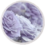 All The Lavender Roses Round Beach Towel