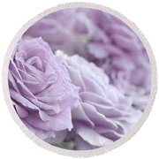 All The Soft Violet Roses Round Beach Towel