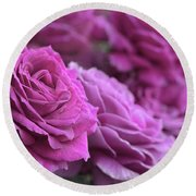 All The Violet Roses Round Beach Towel