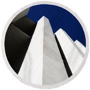 All The Way To The Top  Round Beach Towel