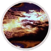 All The Wild Clouds Round Beach Towel