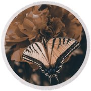 All Things Become New Round Beach Towel