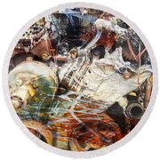 All This World Is Round Beach Towel