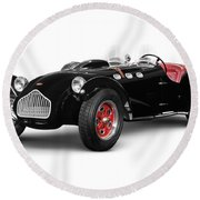 Allard J2x Vintage Sports Car Round Beach Towel