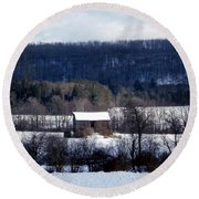 Allegany Winter Round Beach Towel