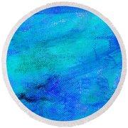 Allegory Blue Round Beach Towel