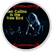 A C  Is The Blue Free Bird Round Beach Towel
