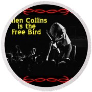A C  Is The Free Bird 2 Round Beach Towel