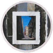 Alley 3rd Ward And Abstract Round Beach Towel