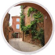 Alley In Roussillion Round Beach Towel