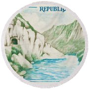 Alley Of Sioule Round Beach Towel