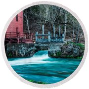 Alley Springs Mill Round Beach Towel