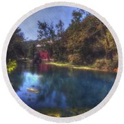 Ally Springs Mill  The Fall Round Beach Towel