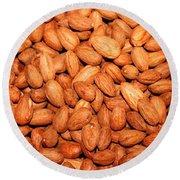 Almonds Round Beach Towel
