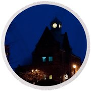 Almonte Ontario At Night Round Beach Towel