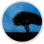 Almost Dark Round Beach Towel