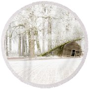 Almost Gone Round Beach Towel by Jean Noren