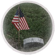 Almost Lost But Not Forgotten Round Beach Towel