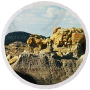 Almost Moonscape Round Beach Towel