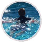 Almost There Round Beach Towel