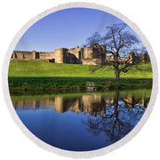 Alnwick Castle Round Beach Towel