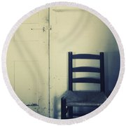 Alone In A Room Round Beach Towel
