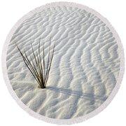 Alone In A Sea Of White Round Beach Towel
