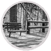 Alone In Your Thoughts Round Beach Towel