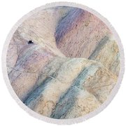 Alone Together Round Beach Towel