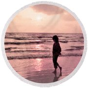 Alone With God Round Beach Towel