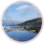 Along Loch Leven 2 Round Beach Towel