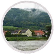 Along The Blue Danube Round Beach Towel