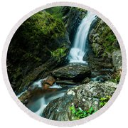 Waterfall - Along The Borderlands Round Beach Towel