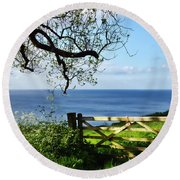 Along The Coastal Path - Lyme Regis Round Beach Towel