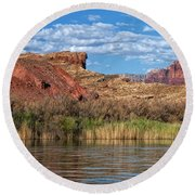 Along The Colorado River Round Beach Towel