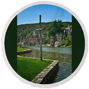 Along The Guadalupe Round Beach Towel