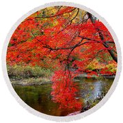 Along The Lamprey Round Beach Towel